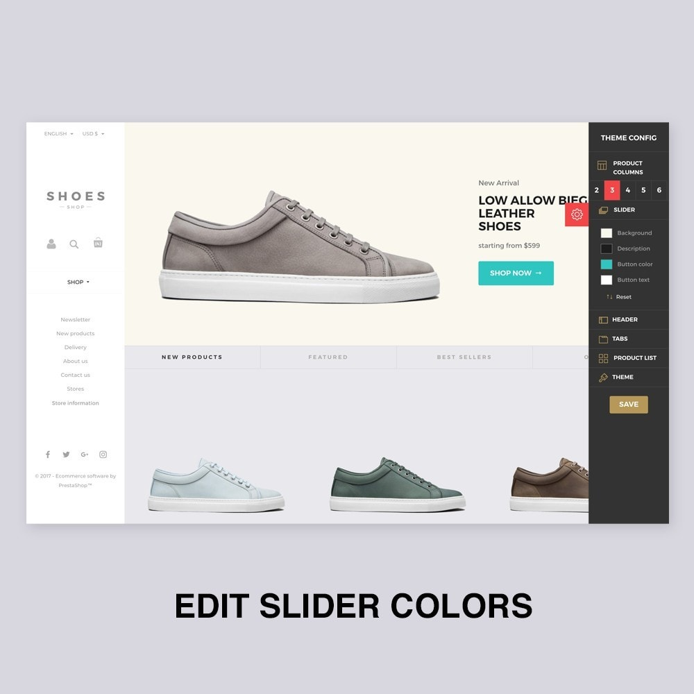 theme - Мода и обувь - Configurable Shoes Theme - 3