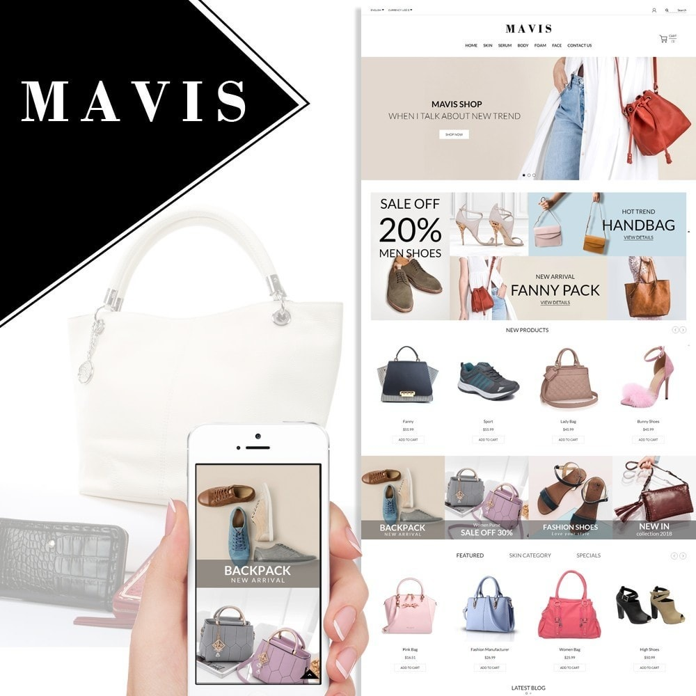 theme - Fashion & Shoes - Bag Shoes Fashion Mavis Store - 1