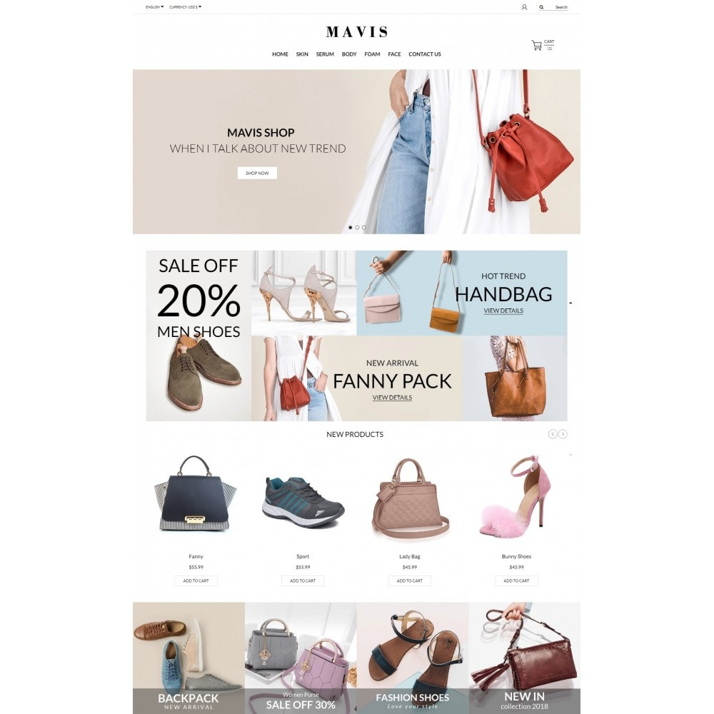 theme - Fashion & Shoes - Bag Shoes Fashion Mavis Store - 2