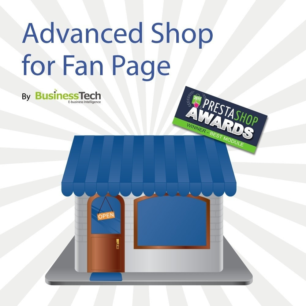 module - Prodotti sui Facebook & Social Network - Advanced Shop for Fan Page - 1