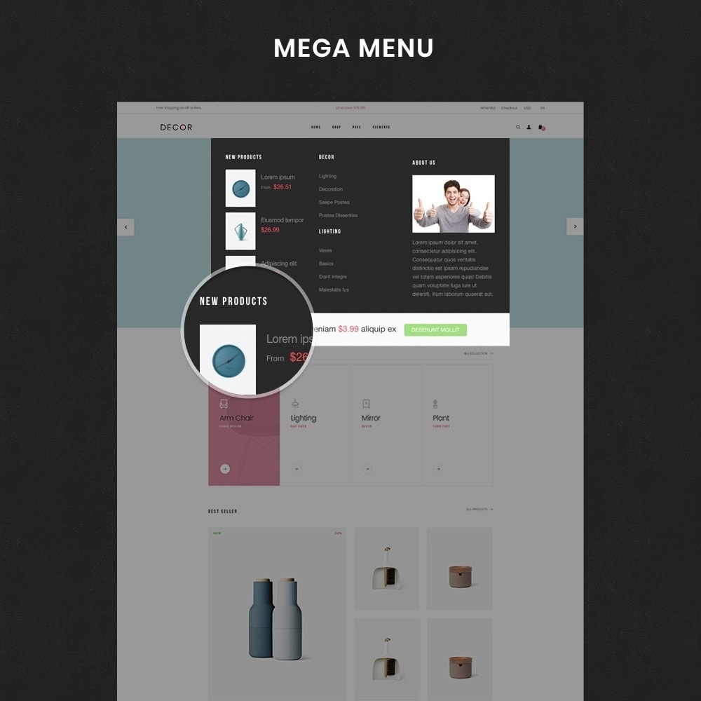 theme - Искусство и Культура - Decor Store Responsive Multiple Prestashop Theme 1.7 - 6