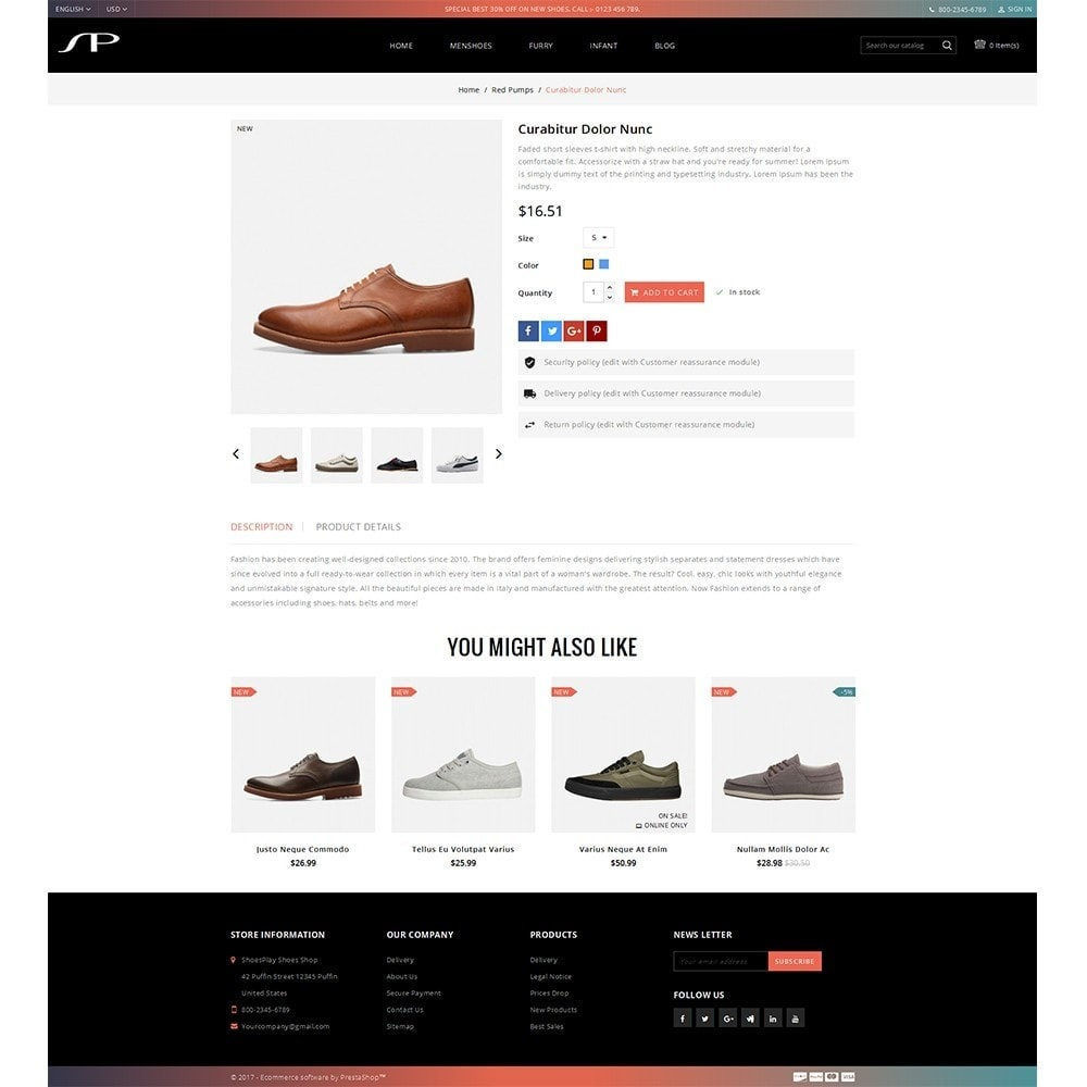theme - Mode & Chaussures - ShoesPlay Shoes Shop - 5