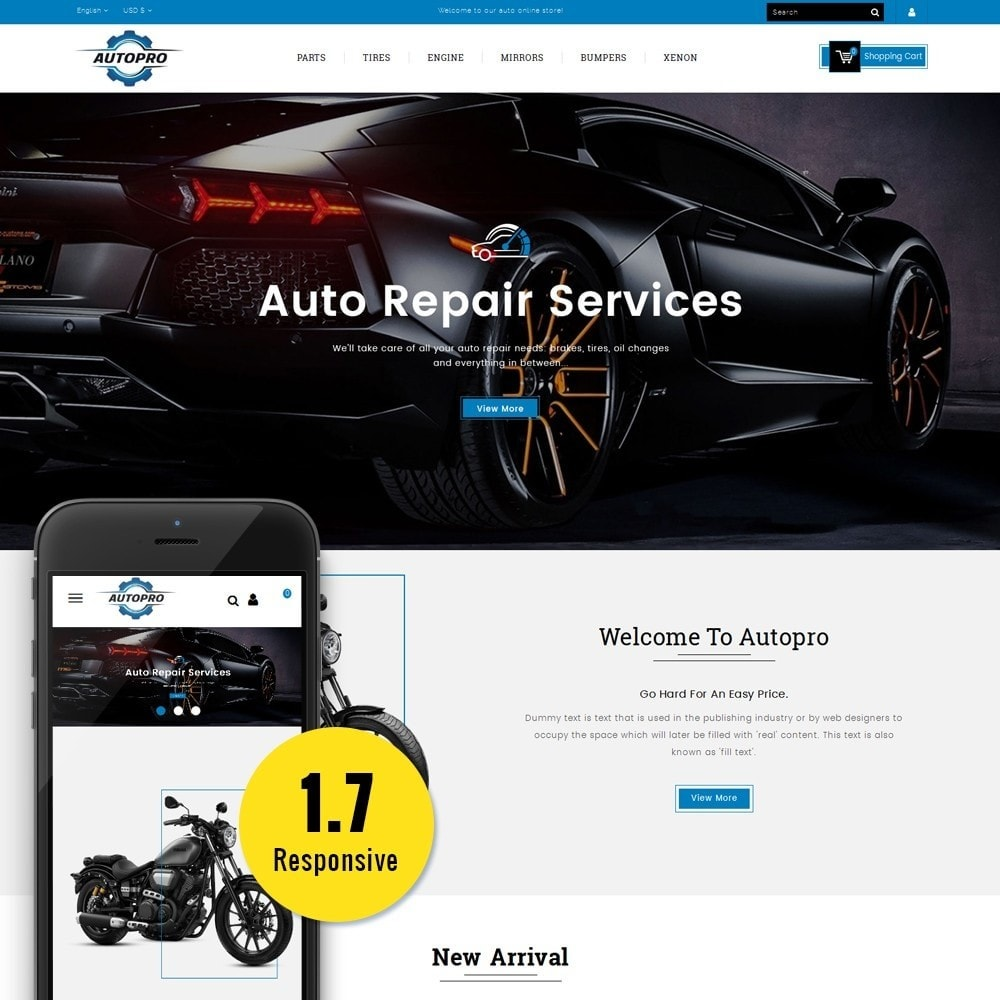 theme - Automotive & Cars - Autopro Store - 1