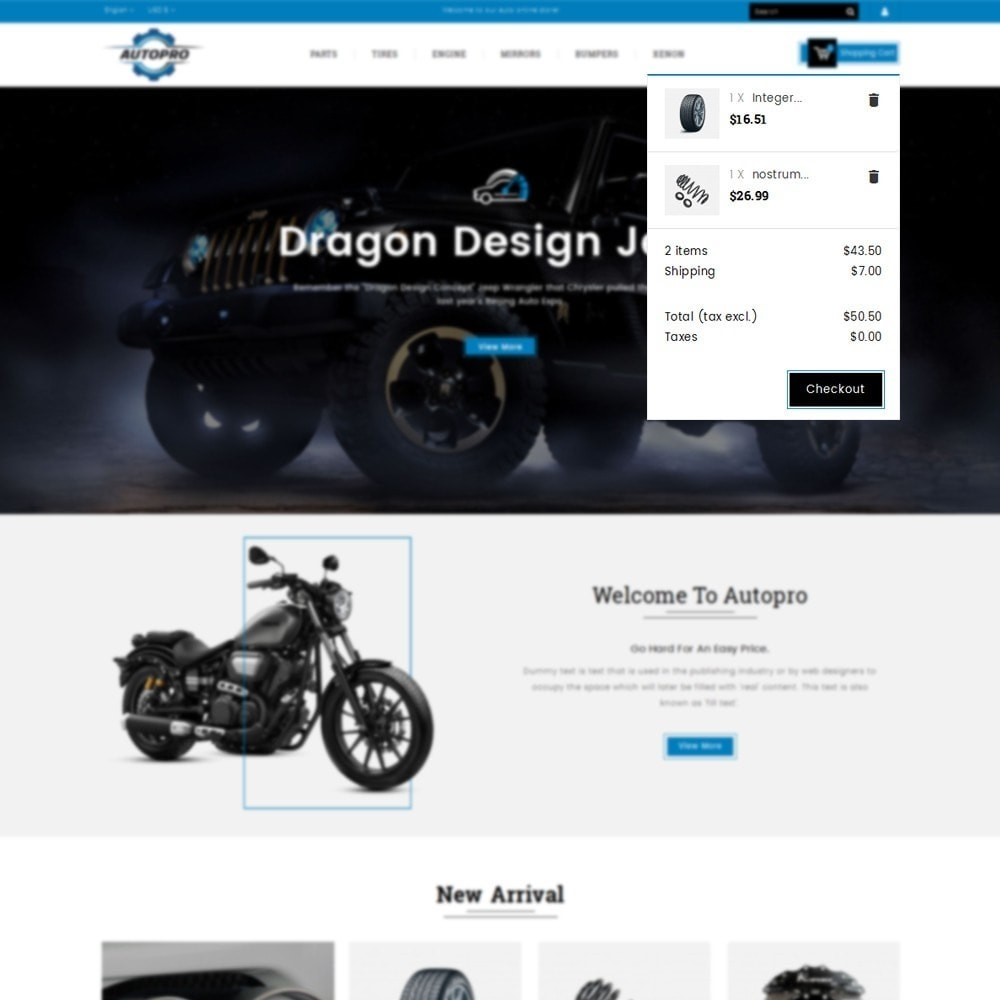 theme - Automotive & Cars - Autopro Store - 8