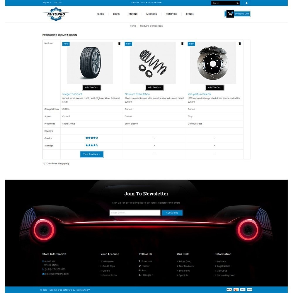 theme - Automotive & Cars - Autopro Store - 9