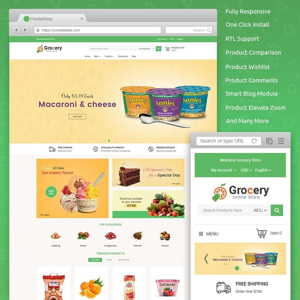 theme - Food & Restaurant - Online Grocery Store - 1