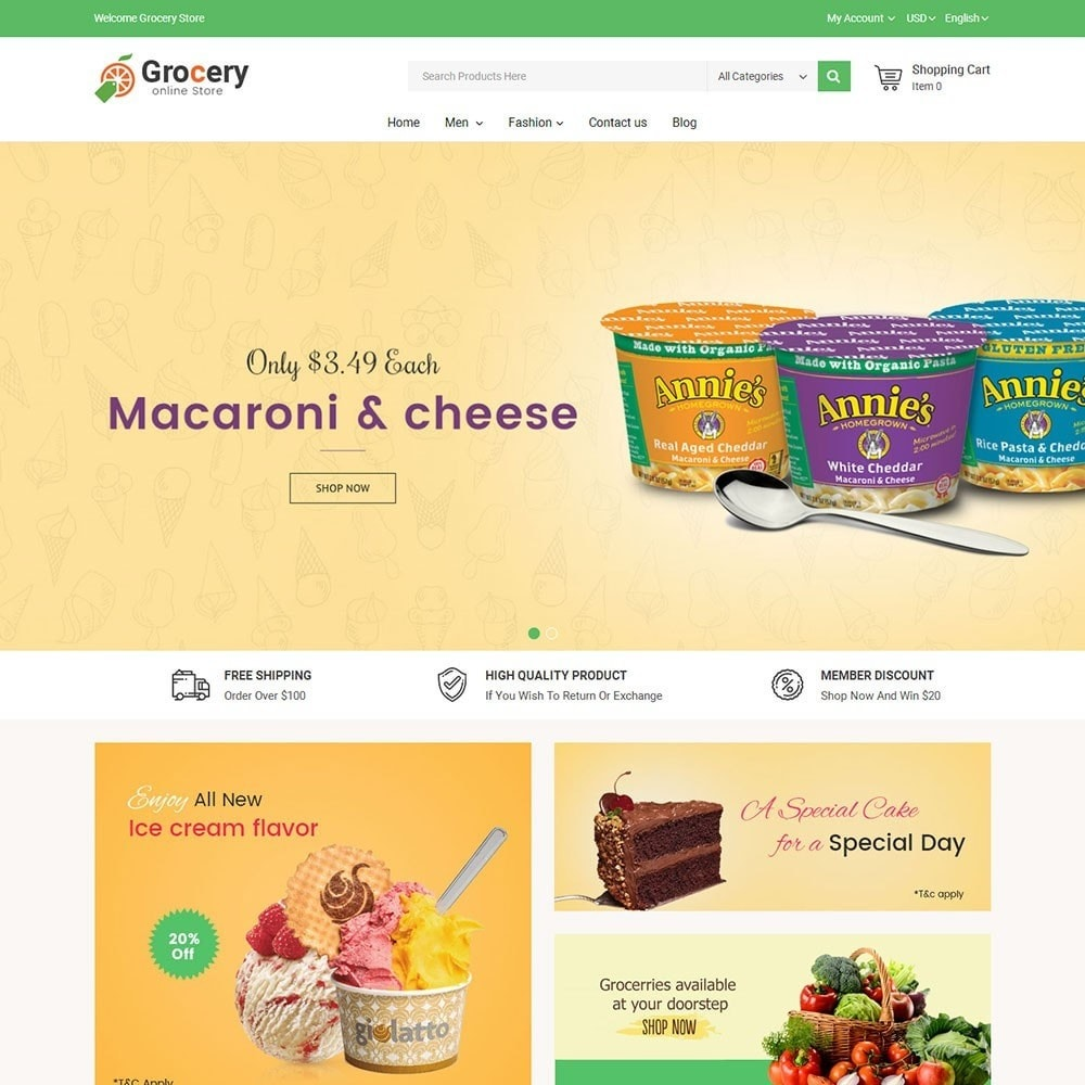 theme - Food & Restaurant - Online Grocery Store - 2