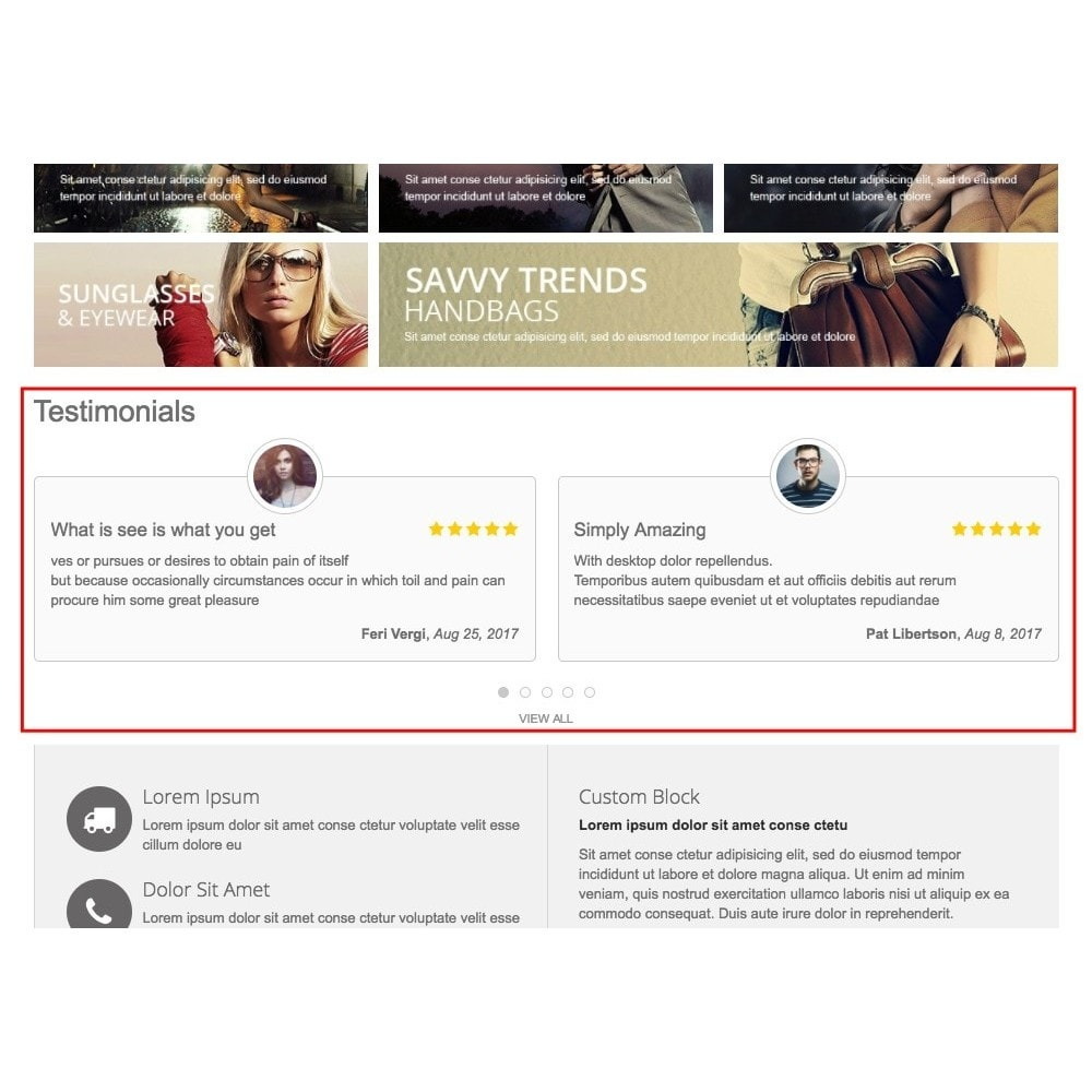 module - Customer Reviews - Testimonials with avatars - 1