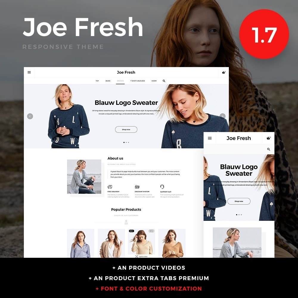 theme - Мода и обувь - Joe Fresh Fashion Store - 1
