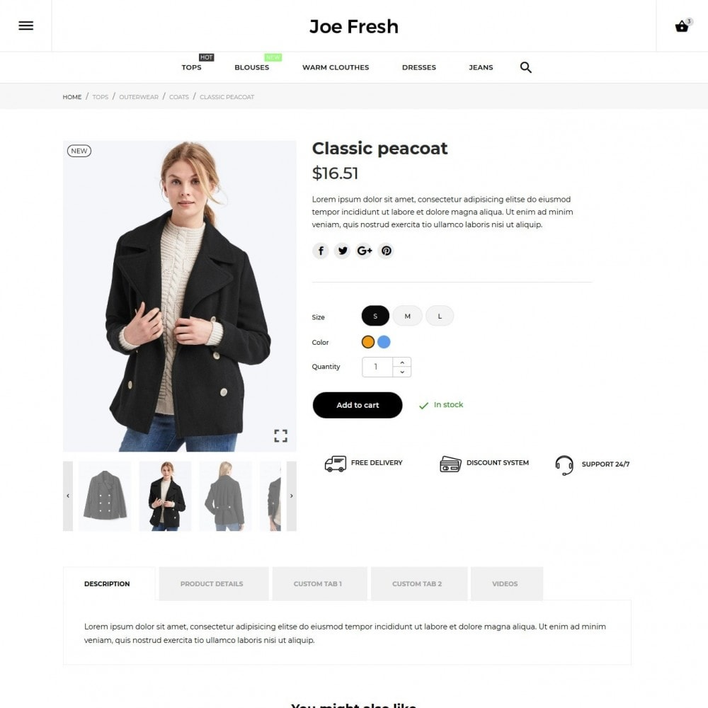 theme - Мода и обувь - Joe Fresh Fashion Store - 8
