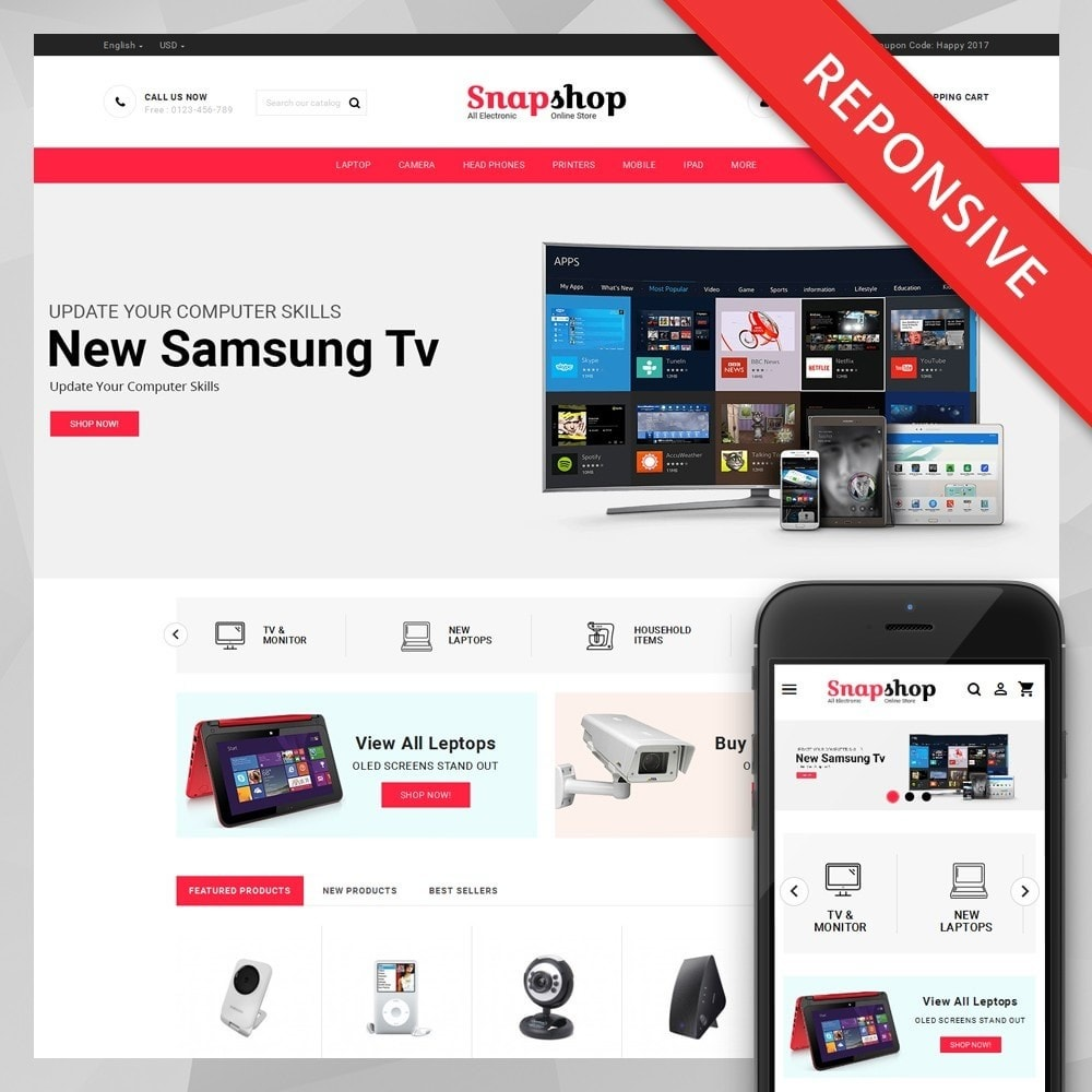 theme - Elektronica & High Tech - Snapshop - Multi Purpose Store - 1