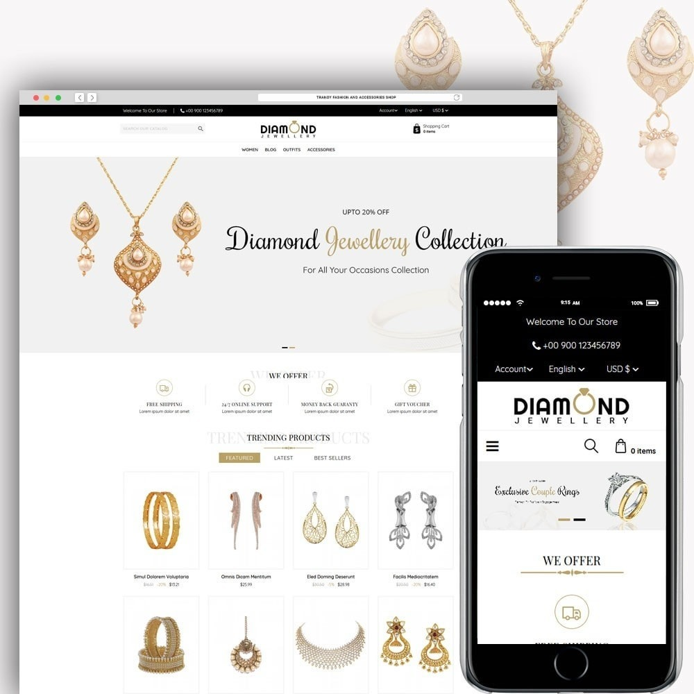 theme - Ювелирные изделия и Аксессуары - Diamond Jewellery - 1