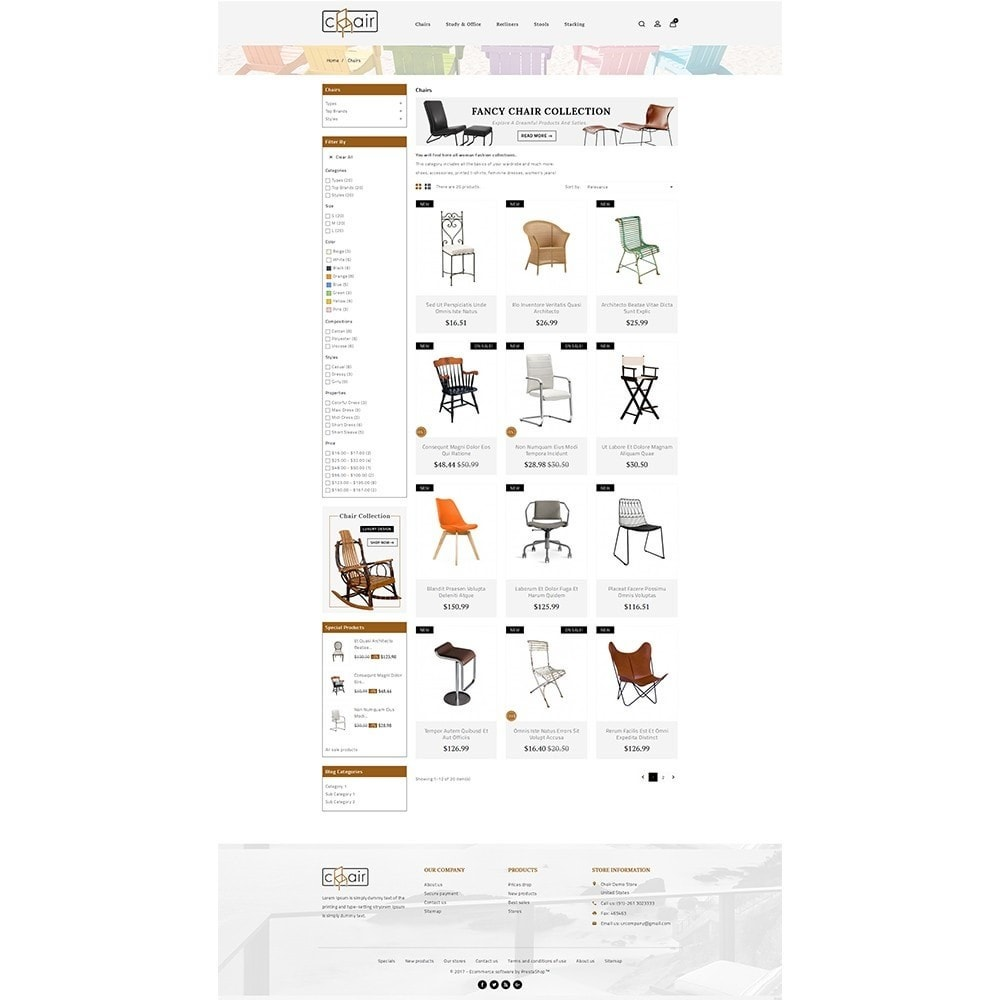 theme - Casa & Jardins - Chair Store - 3