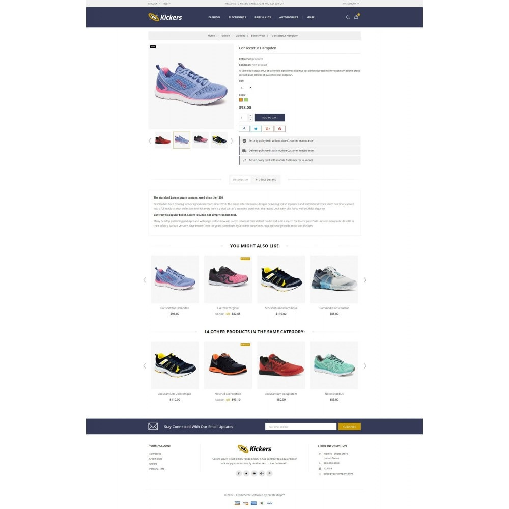 theme - Sports, Activities & Travel - Kickers - Sports Shoes Store - 5