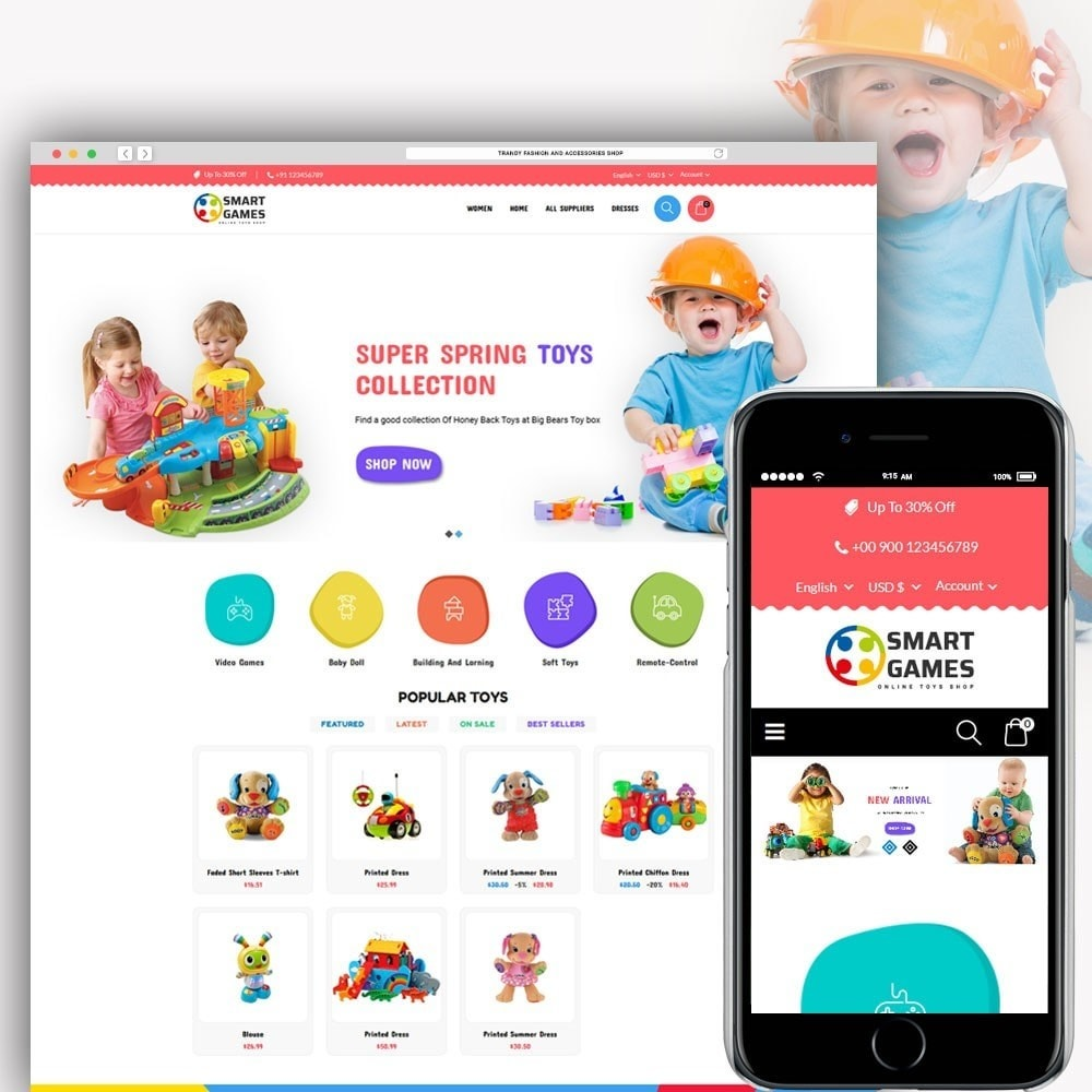 theme - Niños y Juguetes - Smart Games Toy Store - 1