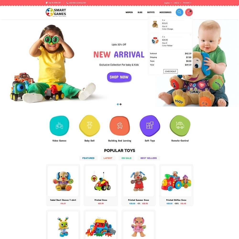 theme - Niños y Juguetes - Smart Games Toy Store - 3
