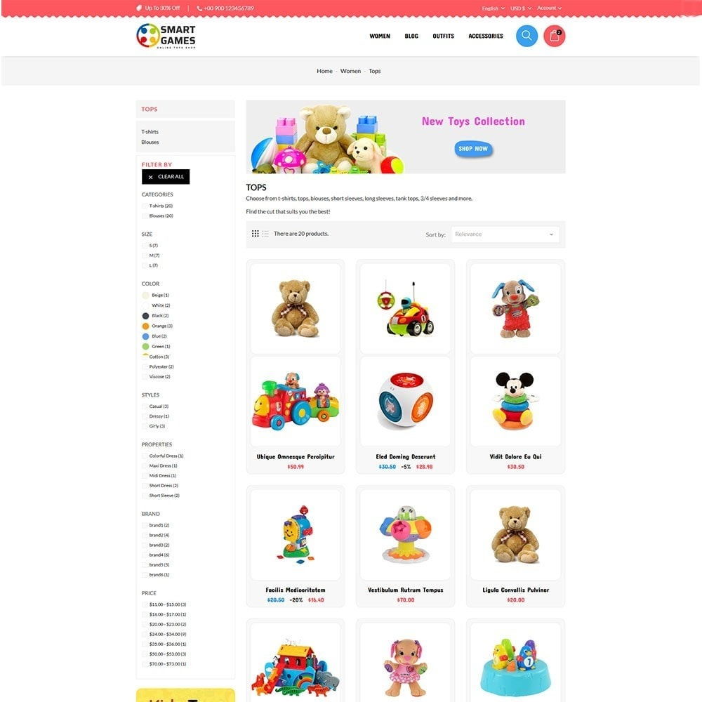theme - Kids & Toys - Smart Games Toy Store - 4