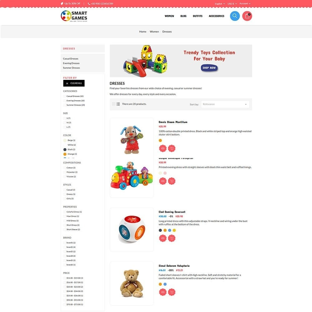 theme - Kids & Toys - Smart Games Toy Store - 5