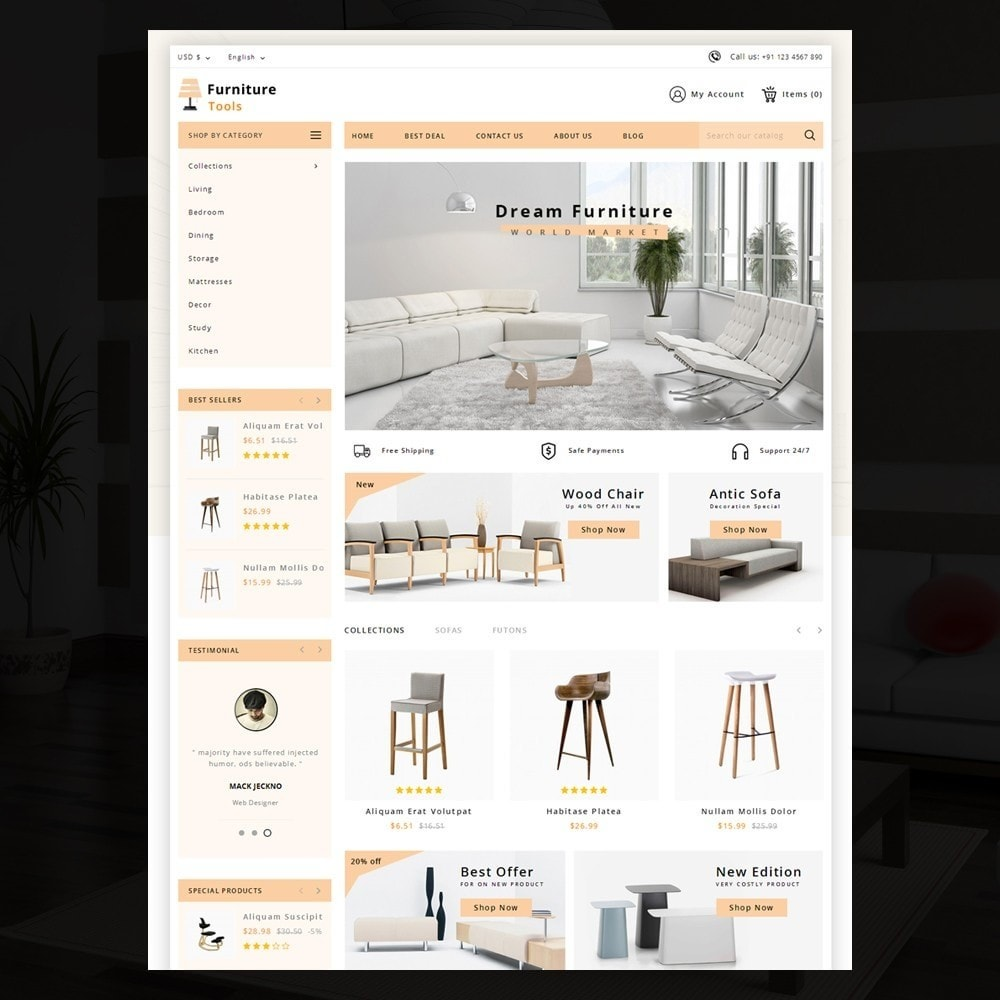 theme - Casa & Jardins - Furniture Tool - 2