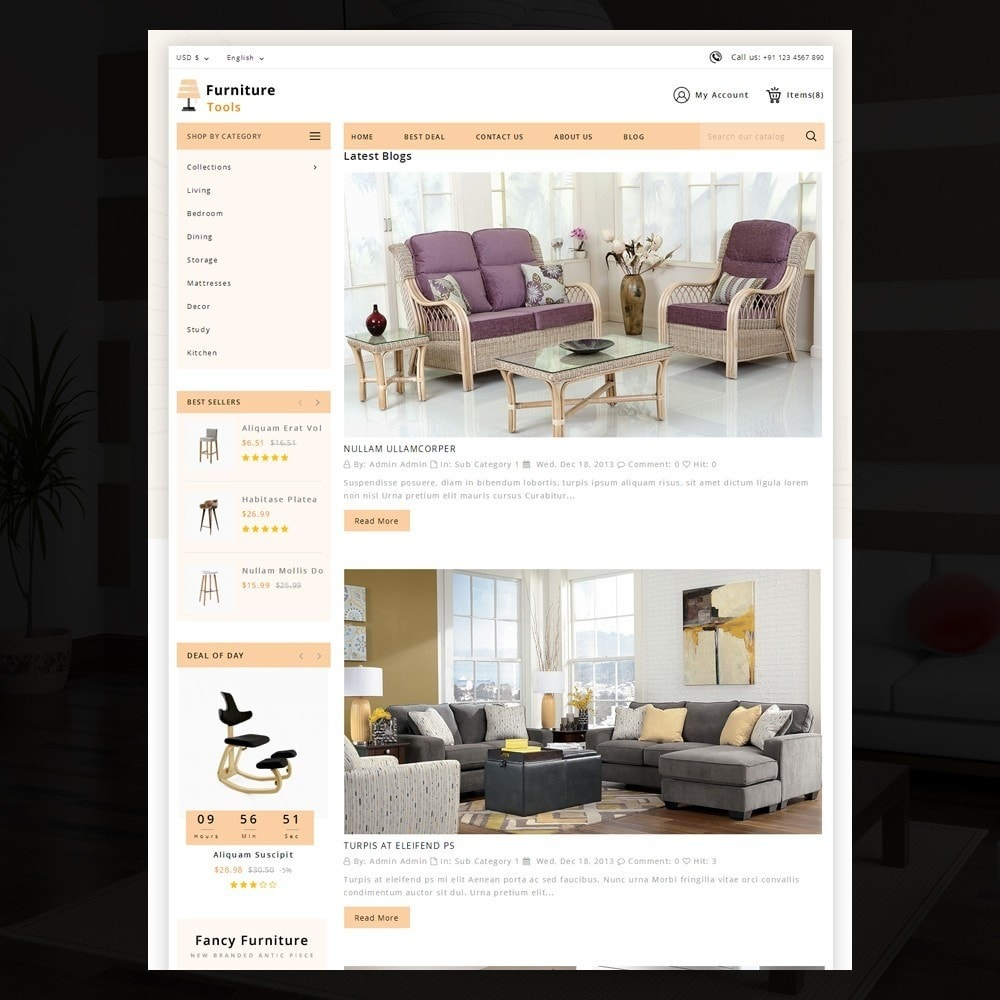 theme - Casa & Jardins - Furniture Tool - 6
