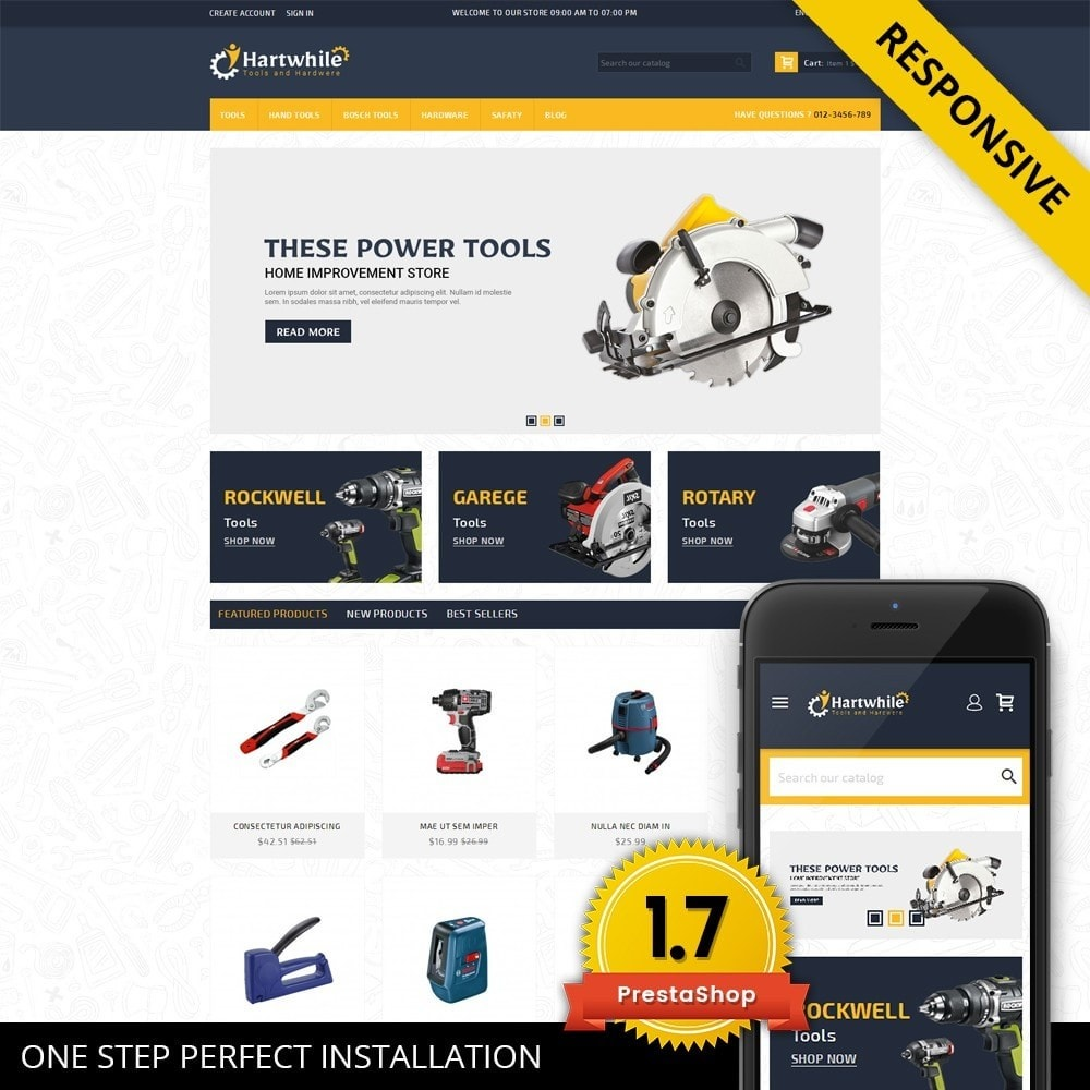 theme - Automotive & Cars - Hartwhile - Tools Store - 1