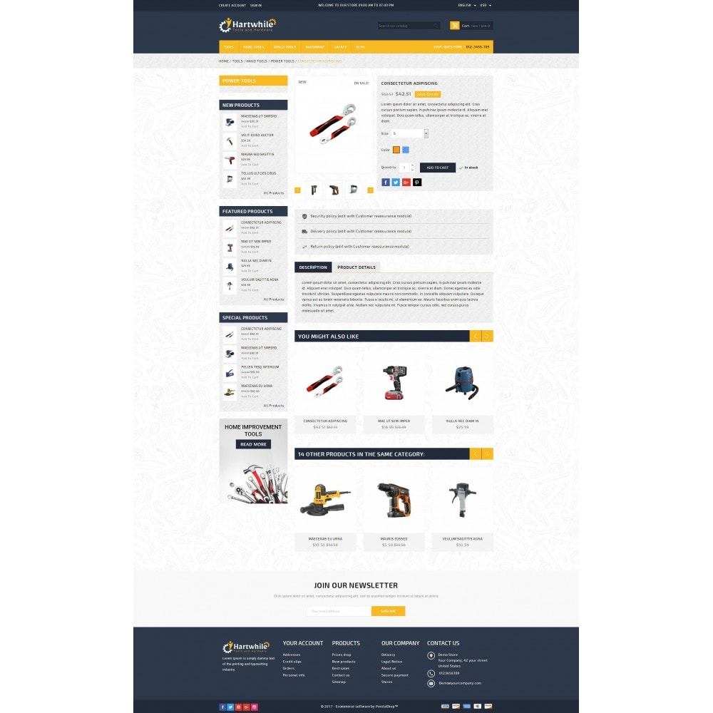 theme - Automotive & Cars - Hartwhile - Tools Store - 5