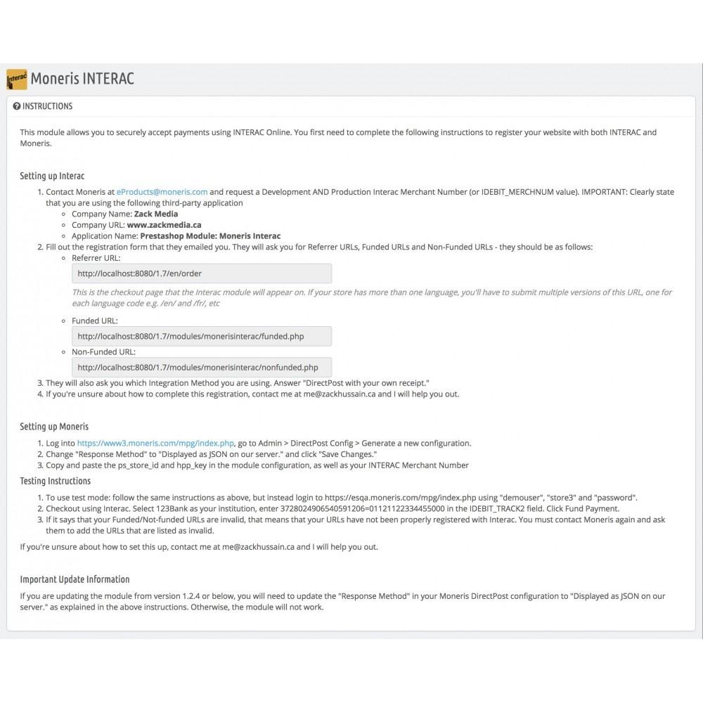 module - Pagamento con Carta di Credito o Wallet - Moneris INTERAC® Online - 5
