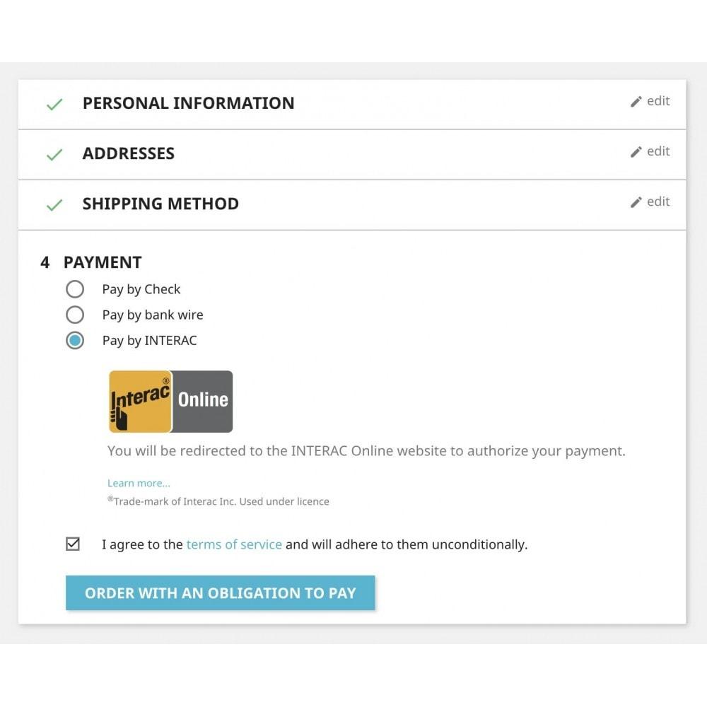module - Pagamento por cartão ou por carteira - Moneris INTERAC® Online - 1