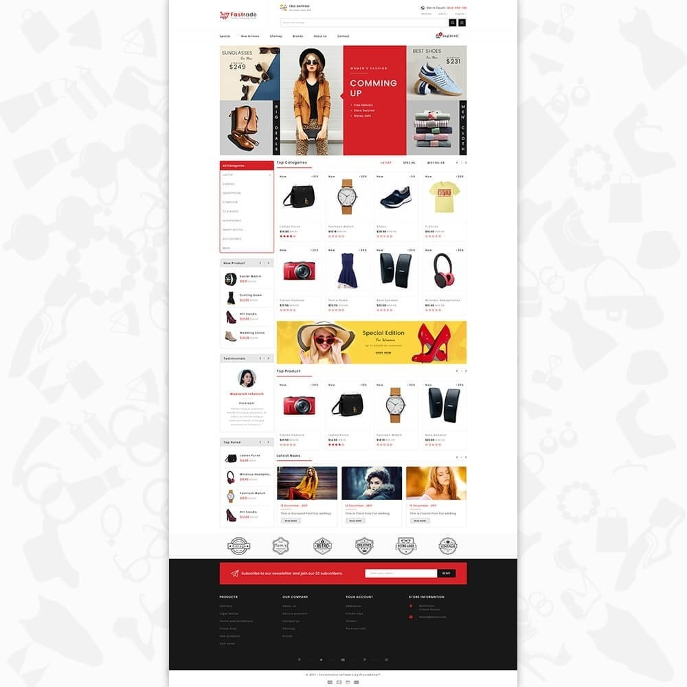 theme - Electronique & High Tech - Fastrade - Online Shopping Trade - 2