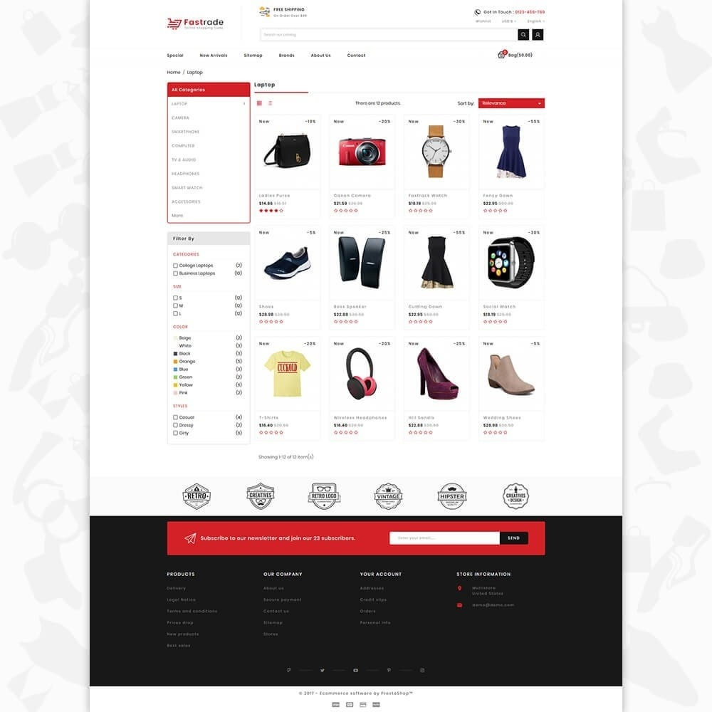 theme - Электроника и компьютеры - Fastrade - Online Shopping Trade - 3