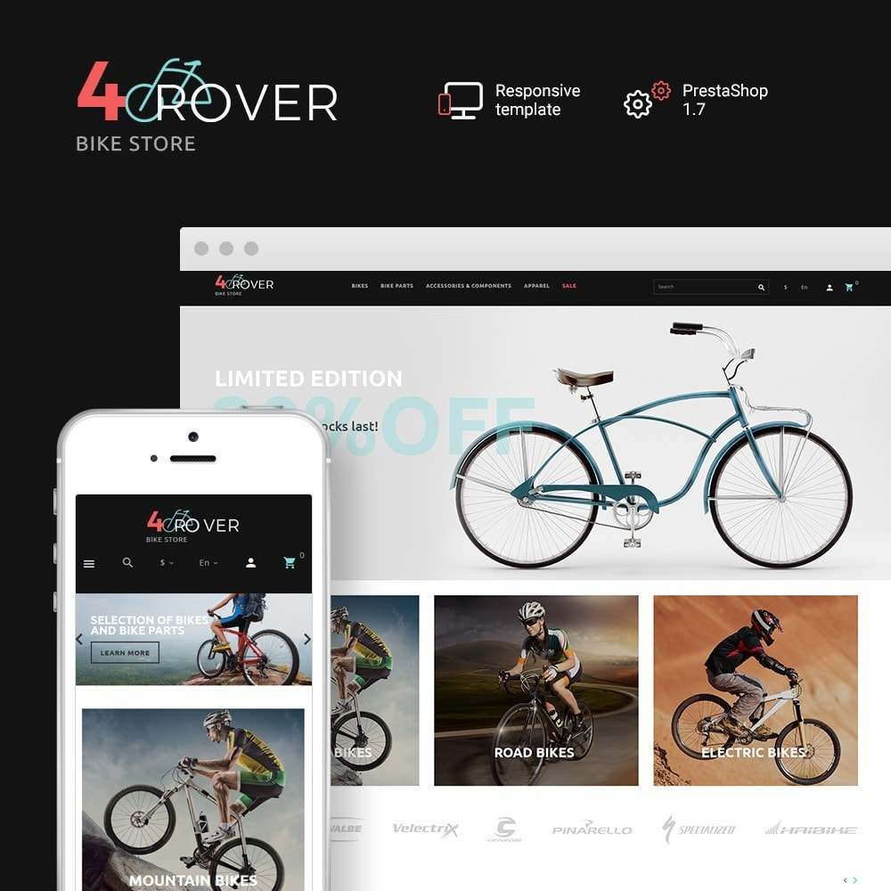 theme - Sport, Loisirs & Voyage - 4Rover - Bike Store - 1