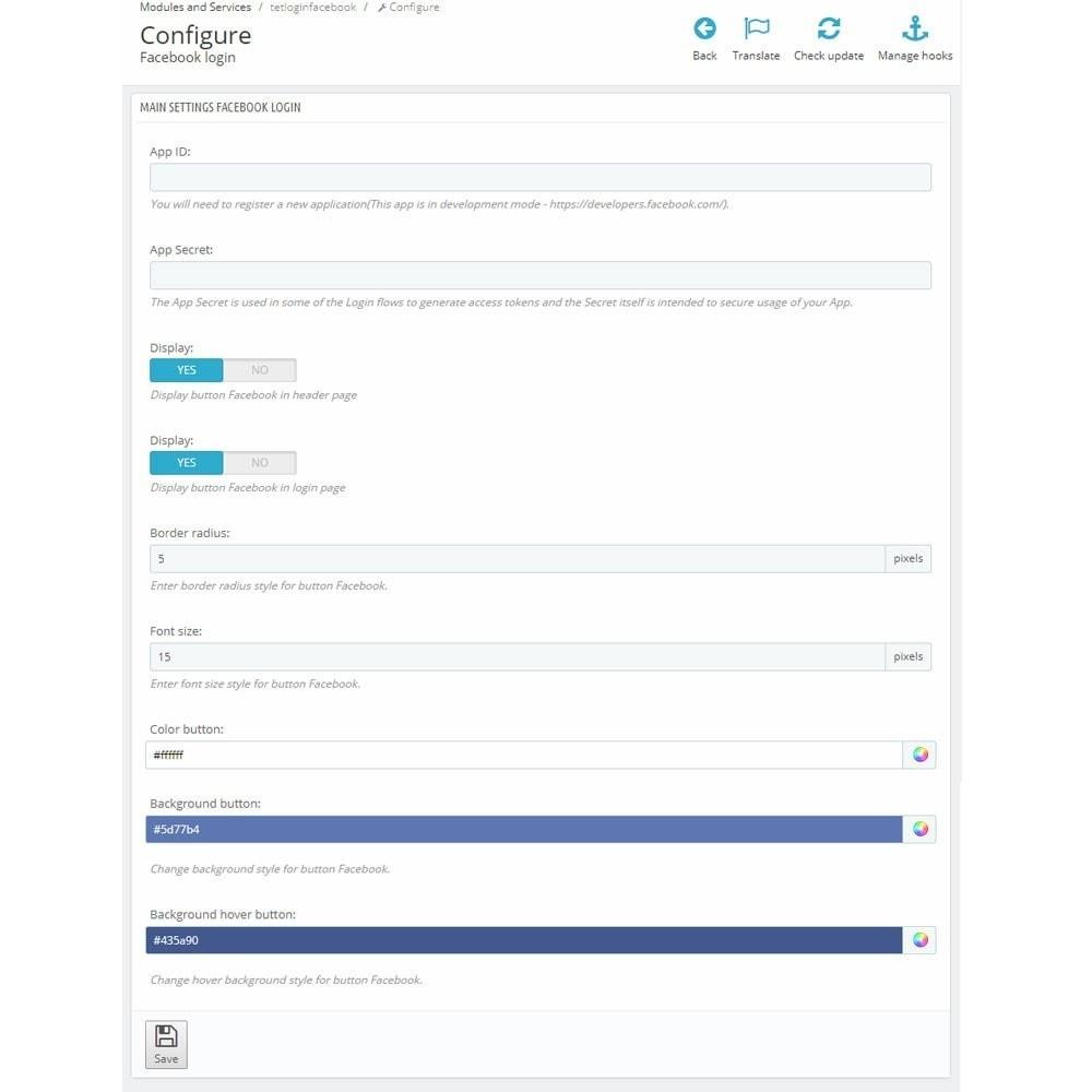 module - Botones de inicio de Sesión/Conexión - Facebook Login Button - 6