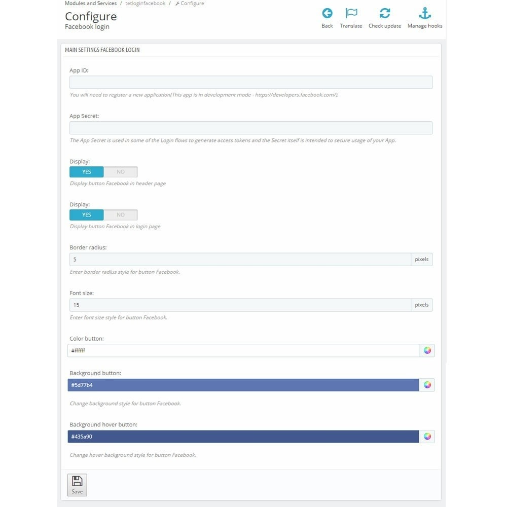 module - Módulos de Botões de Login & Connect - Social Login Button - 6