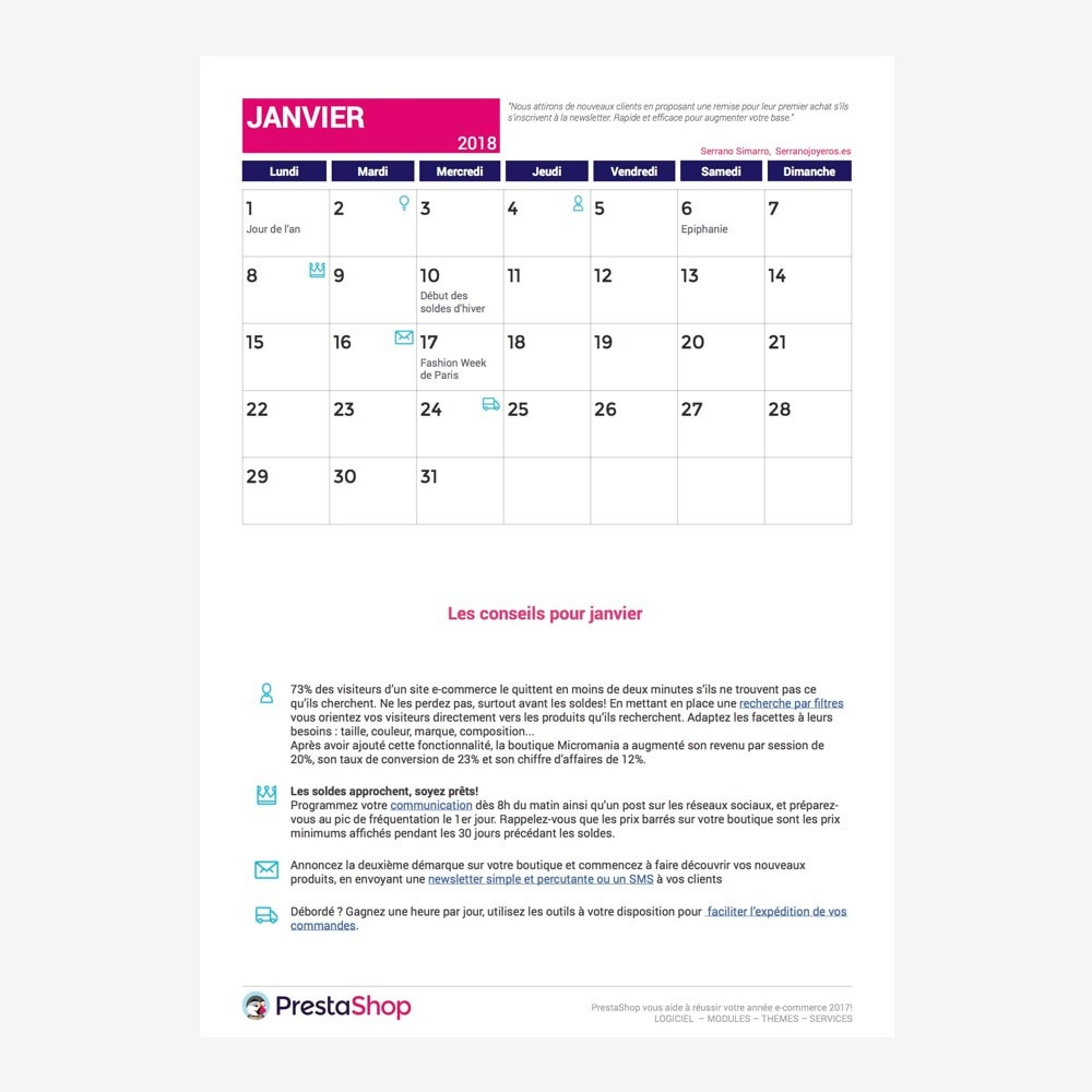 other - Calendario e-Commerce - Calendario e-Commerce Francia 2018 - 2