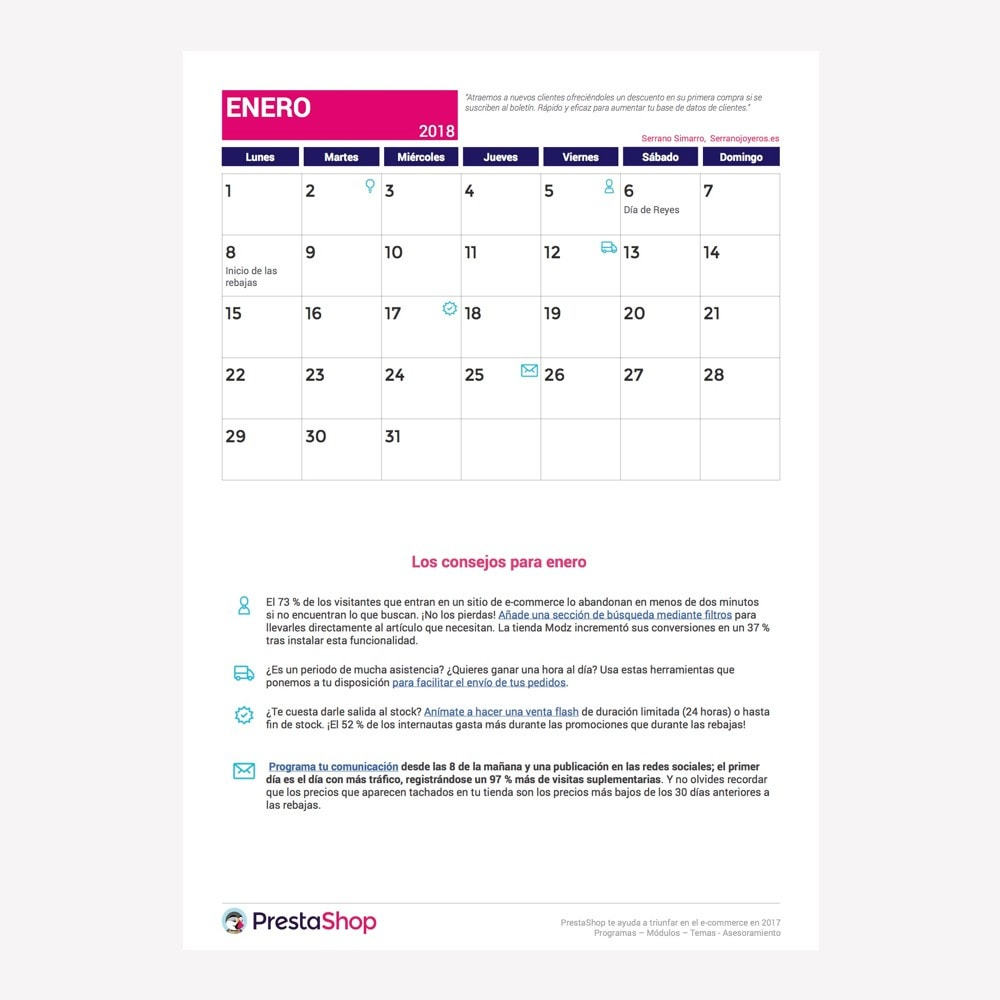 other - Kalendarz e-commerce - Spanish 2018 eCommerce Calendar - 2