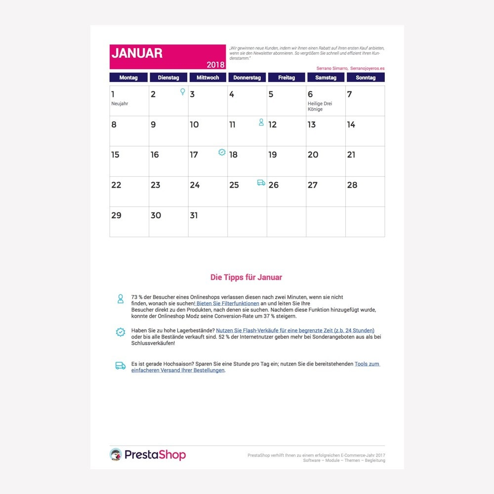 other - e-Commerce Calendar - Germany 2018 eCommerce Calendar - 2