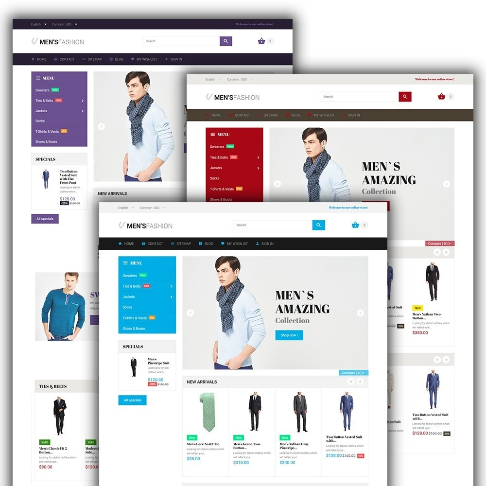 theme - Mode & Schoenen - Men's Fashion - Fashion Store Template - 2