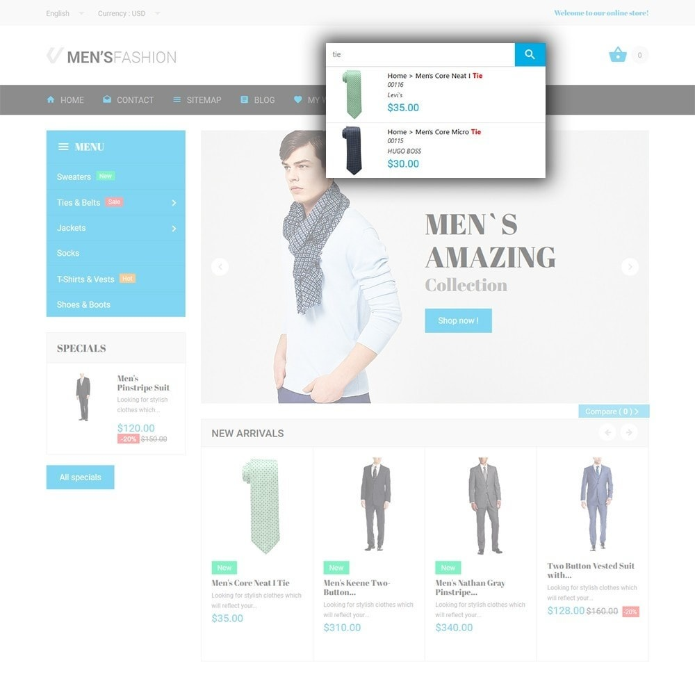 theme - Mode & Schoenen - Men's Fashion - Fashion Store Template - 6