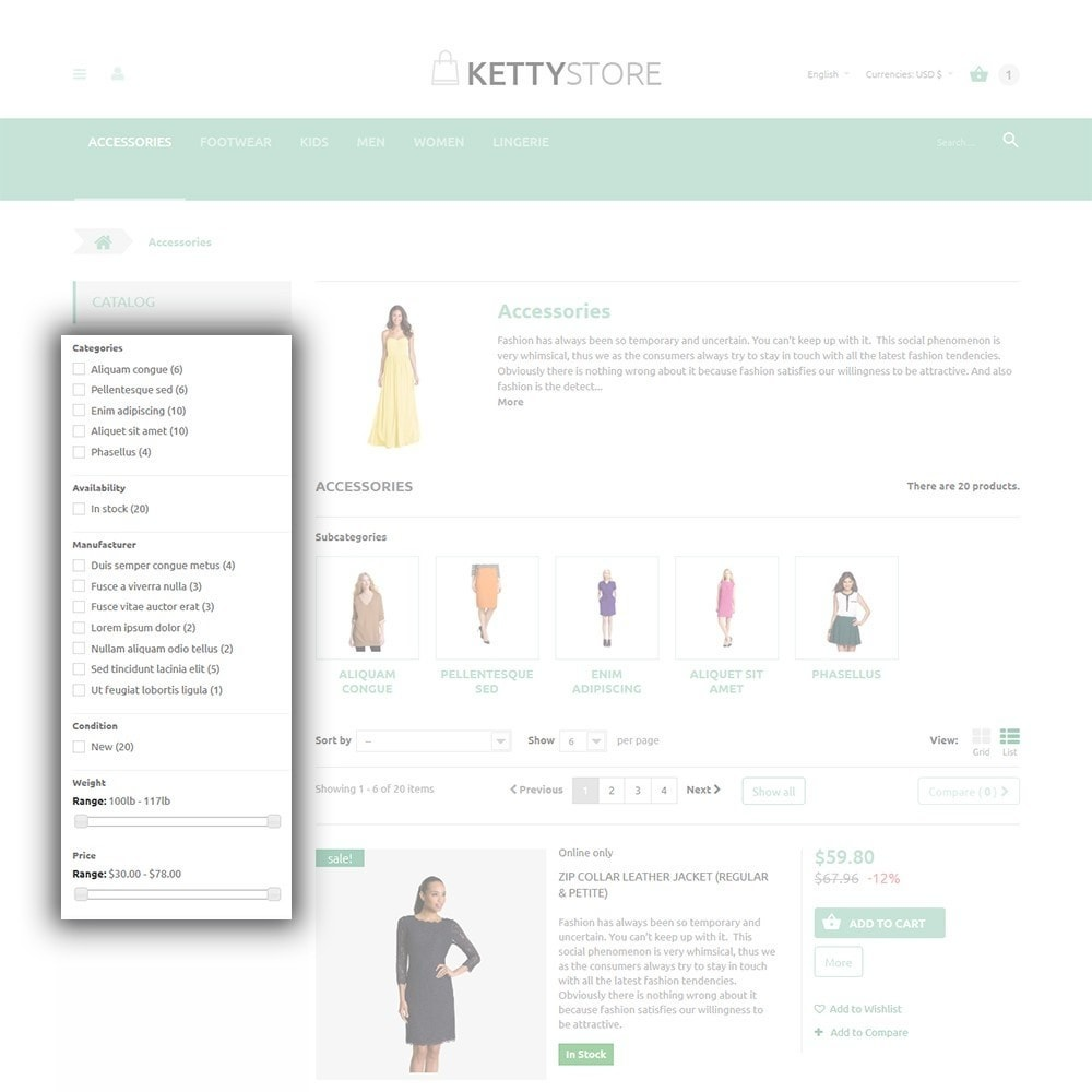 theme - Mode & Chaussures - KettyStore - 5