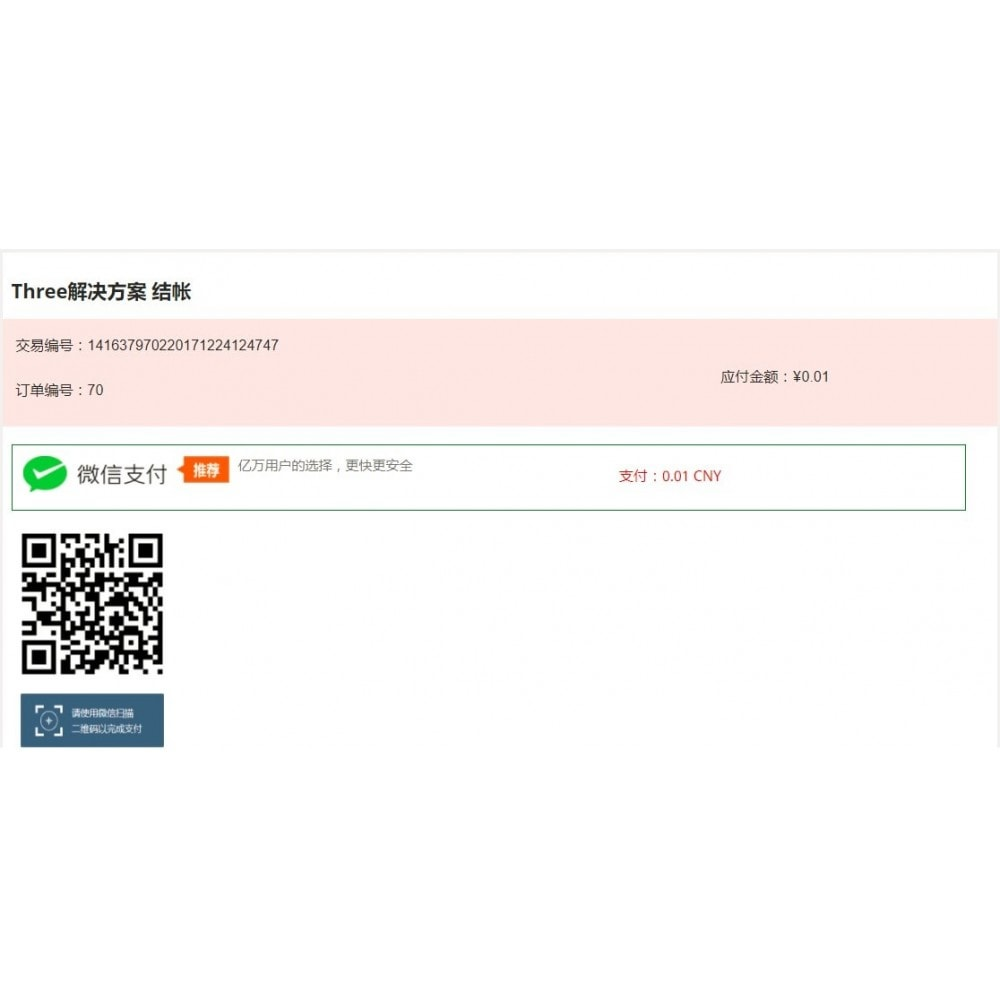 module - Andere Zahlungsmethoden - wechat pay weixin  payment - 6