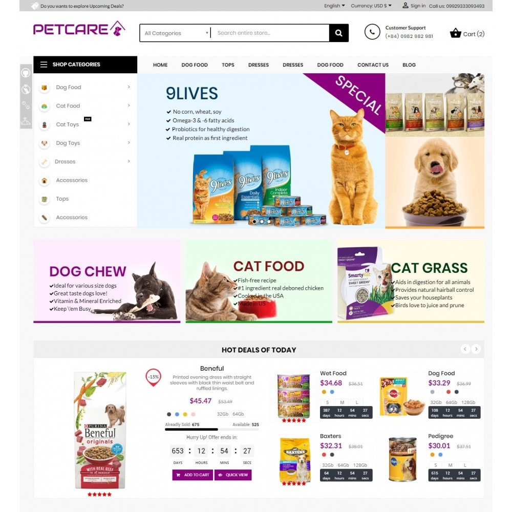 theme - Tier - Animals & Pets Care Store - 2