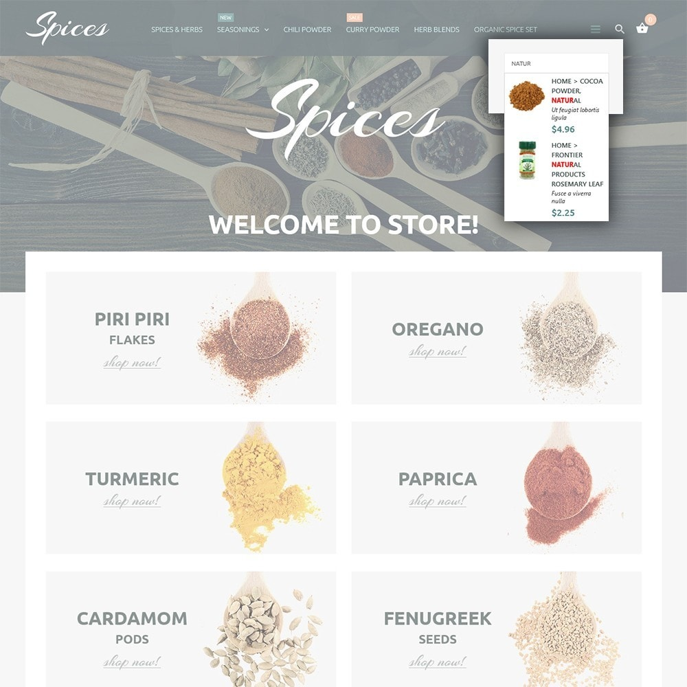 theme - Alimentation & Restauration - Spice Shop - 6