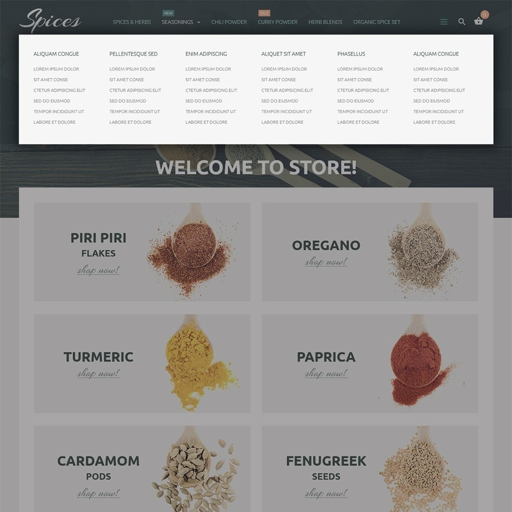 theme - Продовольствие и рестораны - Spice Shop - 5