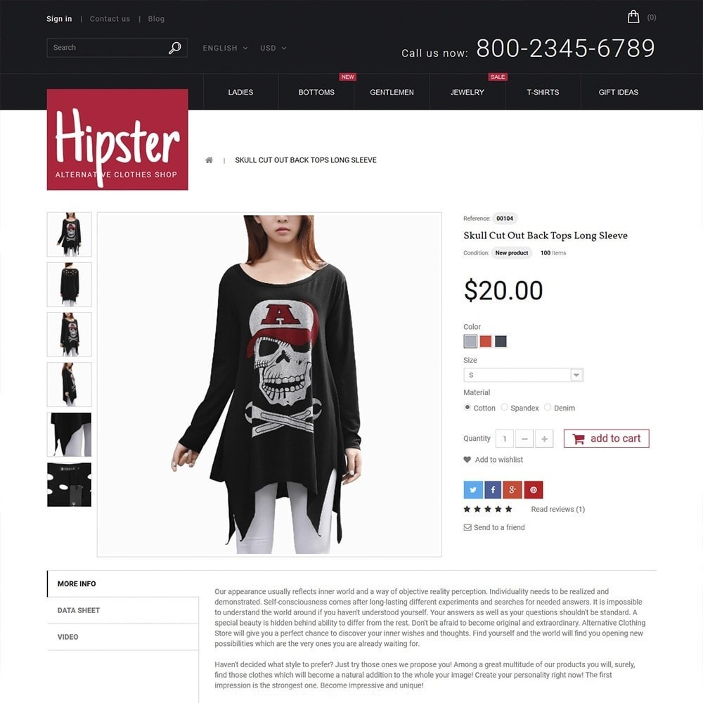 theme - Мода и обувь - Hipster - Apparel Template - 4