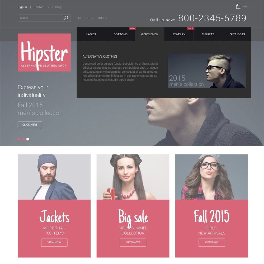 theme - Мода и обувь - Hipster - Apparel Template - 5