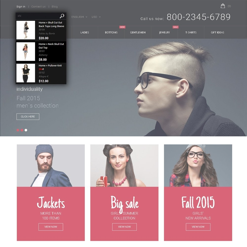 theme - Мода и обувь - Hipster - Apparel Template - 6