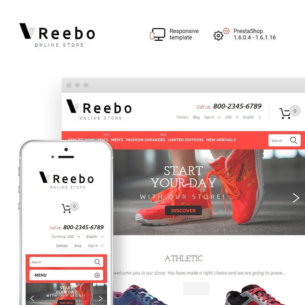 theme - Mode & Schoenen - Reebo - Shoe Store - 1