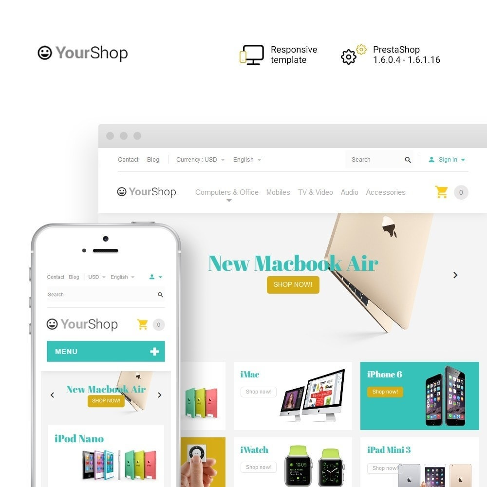 theme - Electronics & Computers - YourShop - Electronics Store - 1