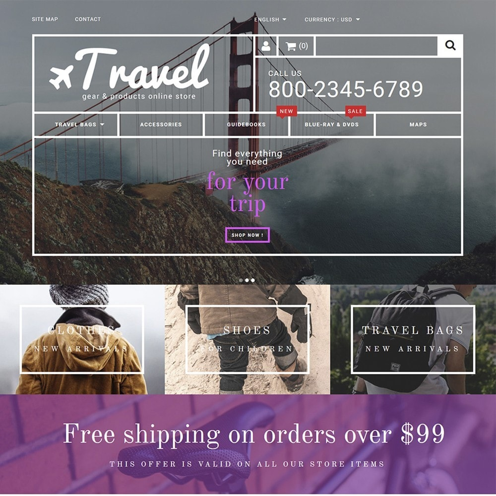 theme - Sport, Loisirs & Voyage - Travel - Gear & Product Online Store - 2
