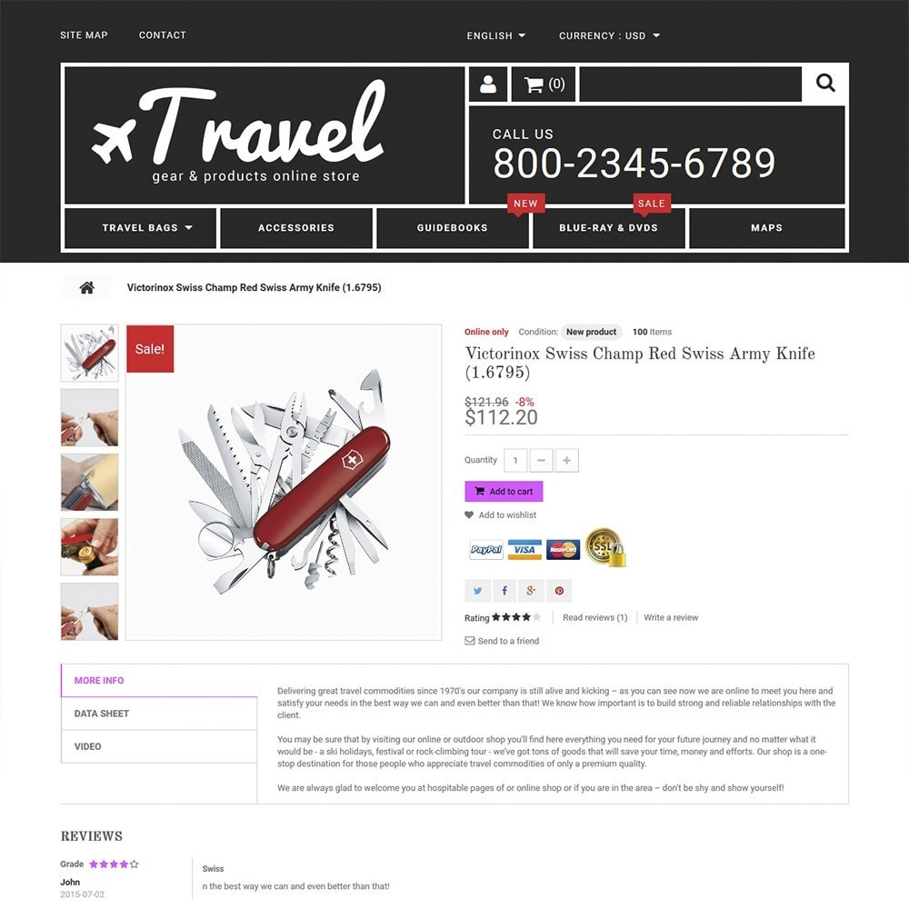 theme - Sport, Loisirs & Voyage - Travel - Gear & Product Online Store - 3